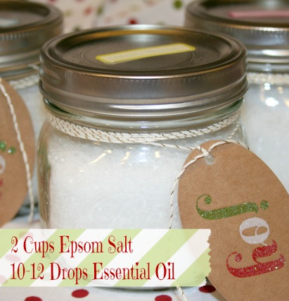 Essential Oil Epsom Salt Handmade Christmas Gift