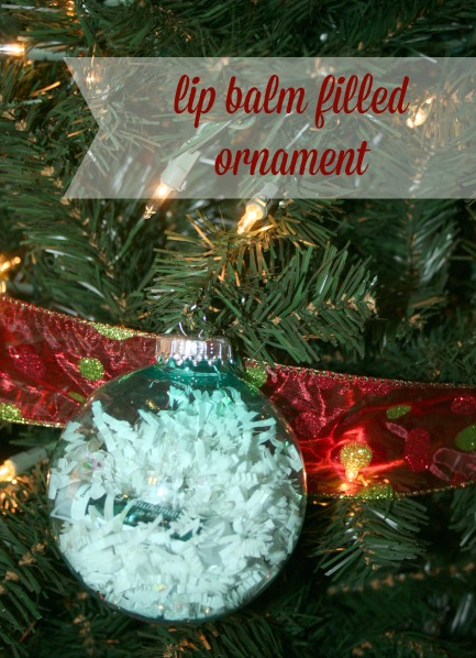 lip balm filled ornament