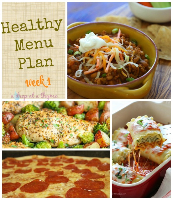 Healthy Menu Plan_Week 1